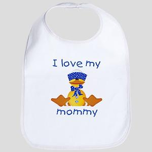 I love my mommy (boy ducky) Bib