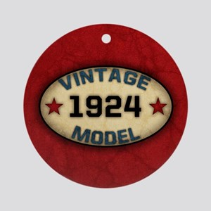 Birthday Vintage Model Year Ornament (Round)