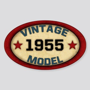 Birthday Vintage Model Year Sticker (Oval)