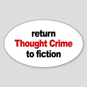 Thought Crime Oval Sticker