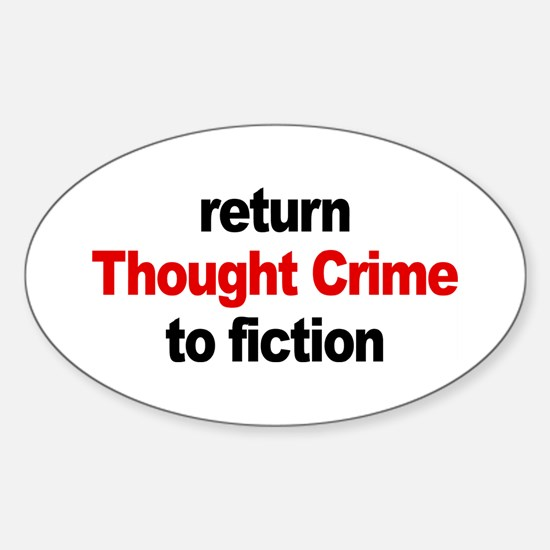 Thought Crime Oval Decal