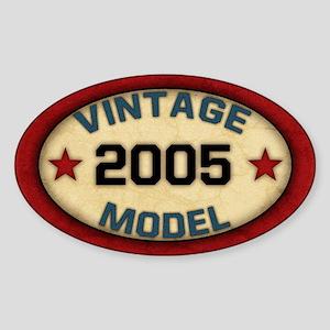 Birthday Vintage Model Year Sticker (Oval)
