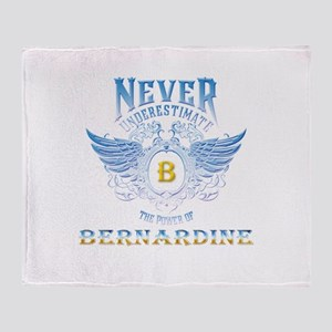 never underestimate the power of ber Throw Blanket