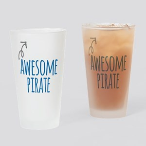 Awesome pirate Drinking Glass