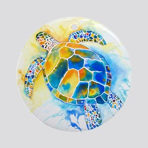 More Sea Turtles Ornament (Round)