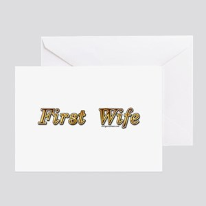 First wife snarky Greeting Card