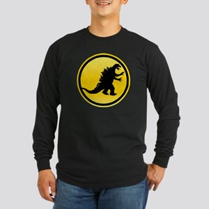 Godzilla Crossing Long Sleeve Dark T-Shirt