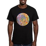 Rainbow Crescents Men's Fitted T-Shirt (dark)