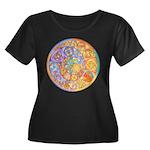 Rainbow Crescents Women's Plus Size Scoop Neck Dar