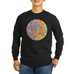 Rainbow Crescents Long Sleeve Dark T-Shirt