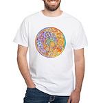 Rainbow Crescents White T-Shirt
