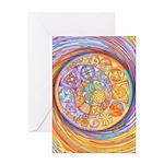 Rainbow Crescents Greeting Card