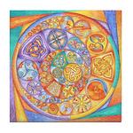 Rainbow Crescents Tile Coaster