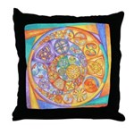 Rainbow Crescents Throw Pillow