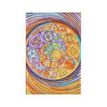 Rainbow Crescents Rectangle Magnet