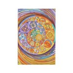 Rainbow Crescents Rectangle Magnet (100 pack)