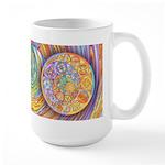 Rainbow Crescents Large Mug