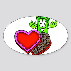 Mr. Deal - Valentine's Day an Sticker (Oval)