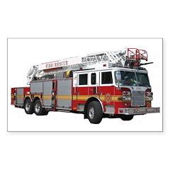 Firetruck Design Sticker (Rectangle)