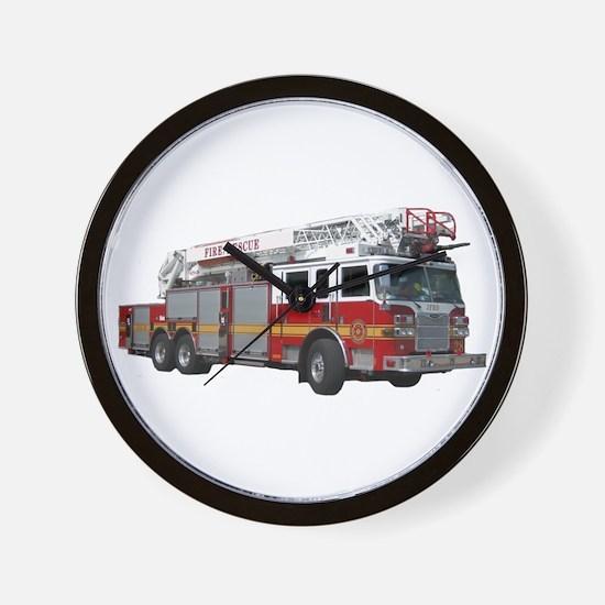 Firetruck Design Wall Clock