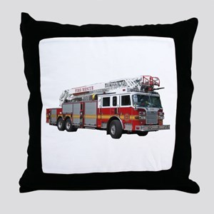 Firetruck Design Throw Pillow