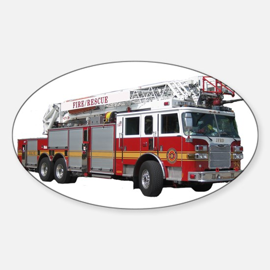 Firetruck Design Sticker (Oval)