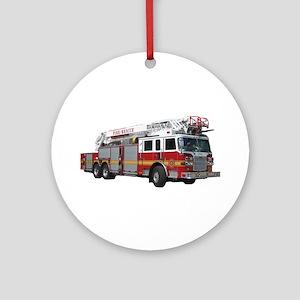 Firetruck Design Ornament (Round)