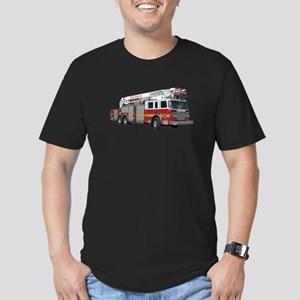 Firetruck Design Men's Fitted T-Shirt (dark)