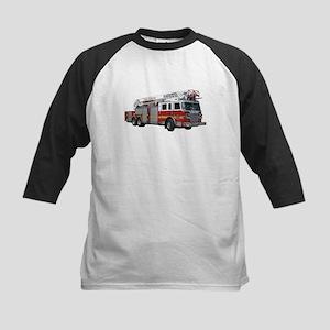 Firetruck Design Kids Baseball Jersey