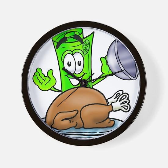 Mr. Deal - Thanksgiving Turke Wall Clock