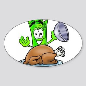 Mr. Deal - Thanksgiving Turke Sticker (Oval)