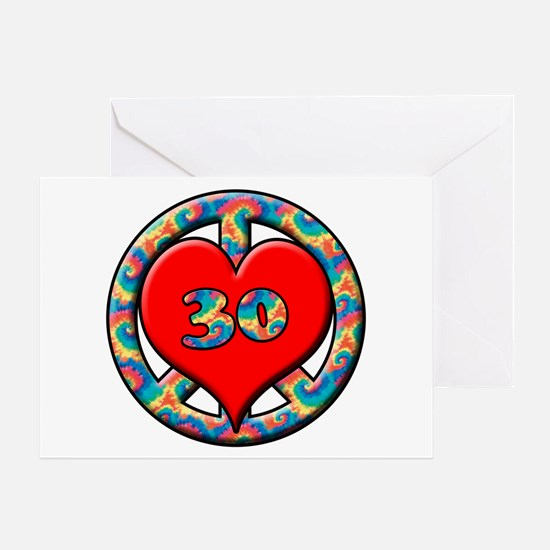 Cool 30th anniversary Greeting Card