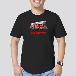 Big Brother Fire Truck Men's Fitted T-Shirt (dark)