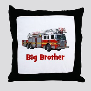 Big Brother Fire Truck Throw Pillow