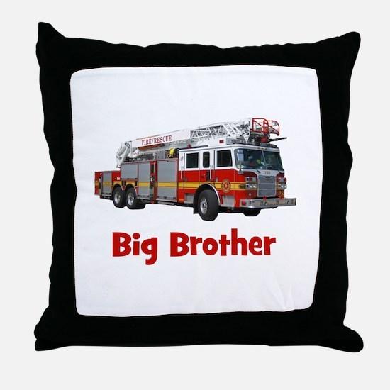 Big Brother Fire Truck Throw Pillow