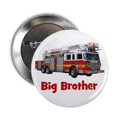 """Big Brother Fire Truck 2.25"""" Button"""