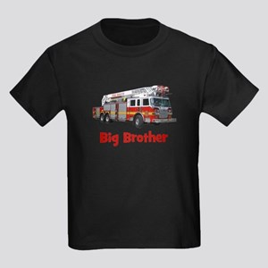Big Brother Fire Truck Kids Dark T-Shirt