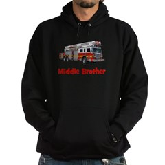 Middle Brother Fire Truck Hoodie (dark)