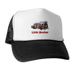 Little Brother Fire Truck Trucker Hat