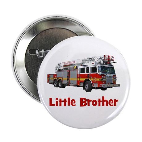 "Little Brother Fire Truck 2.25"" Button"