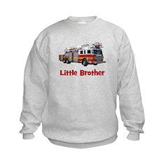 Little Brother Fire Truck Sweatshirt