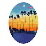California Sunset Ornament (Oval)