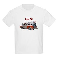 I'm 5! Firetruck T-Shirt