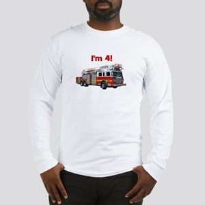 I'm 4! Firetruck Long Sleeve T-Shirt