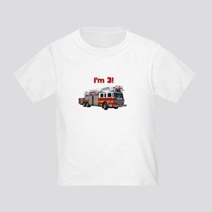 I'm 3! Fire Truck Toddler T-Shirt