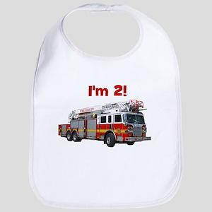 I'm 2! Fire Truck Bib
