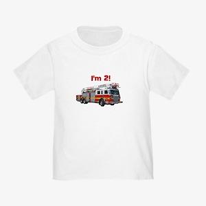 I'm 2! Fire Truck Toddler T-Shirt
