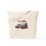 I'm ONE! Fire Truck Tote Bag