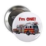 """I'm ONE! Fire Truck 2.25"""" Button"""