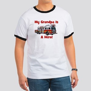 Grandpa Is My Hero FireTruck Ringer T